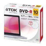 【メール便送料無料】TDK ティーディーケーDR47PWC10UE [データ用 DVD-R 4.7GB 16倍速対応 インクジェットプリンタ対応ホワイトワイドレーベル 5mmケース 10枚入り]  税込価格