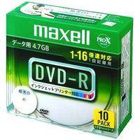 マクセル データ用16倍速対応DVD-R 10枚パック 4.7GB ホワイトプリンタブル [DR47WPDS1P10SA] 税込価格